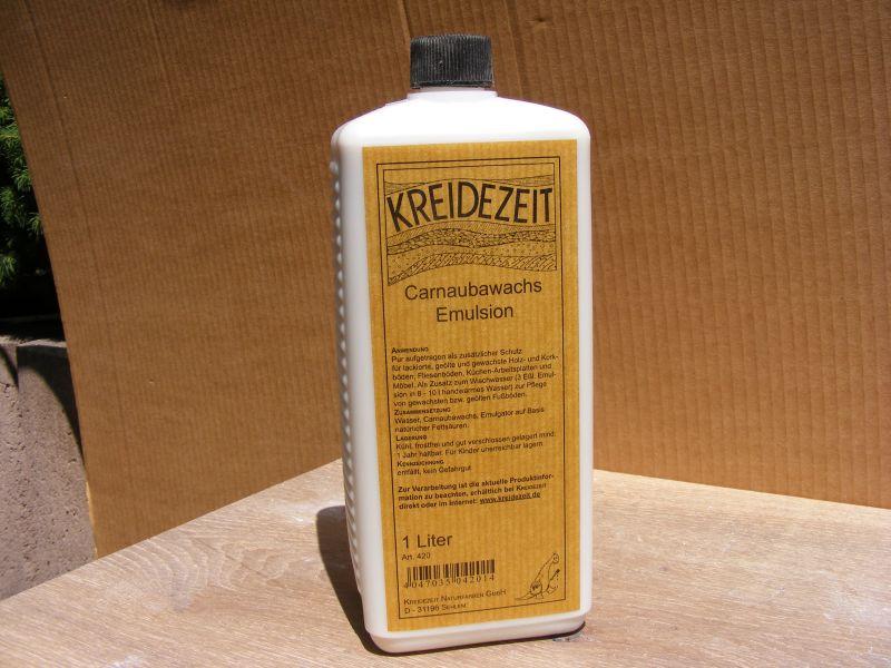 Carnaubawachs-Emulsion schützt, pflegt und steigert den Glanzgrad
